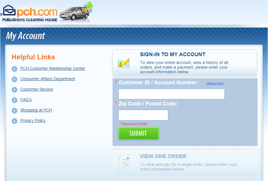 Welcome to My Account The fast, easy way to make a payment and manage your purchases with PCH!