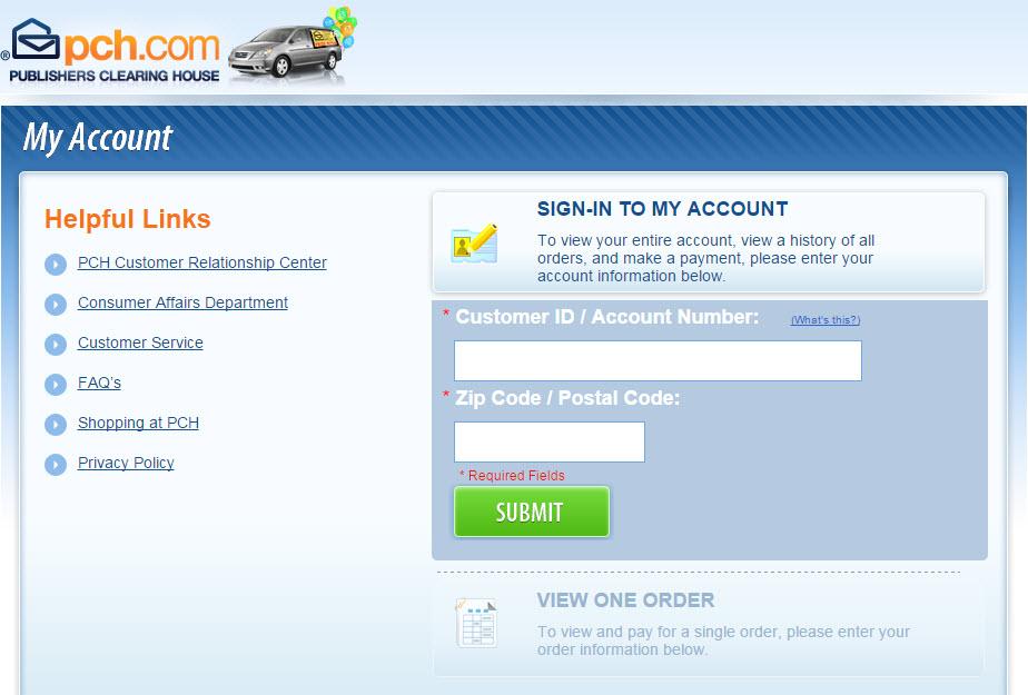 Pch com login / New Sale